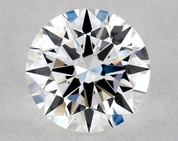 Diamond - 0.63 ct - Brilliant, Round - D (colourless) - VS2, *3EX*, Low Reserve Price + Free Shipping