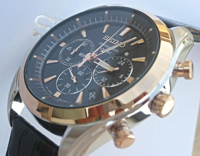 Seiko - Seiko - Professional Rose Gold Plated Chrono 18 Karat - SSB160  - Heren - 2019