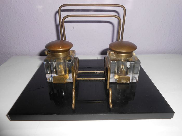 Art Deco  - Desk set Garnish Inkwell