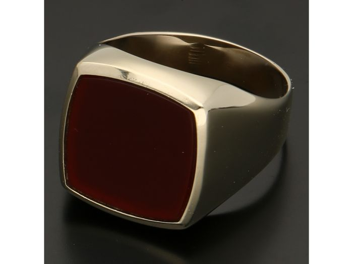 14 kt. Gold - Seal ring Carnelian