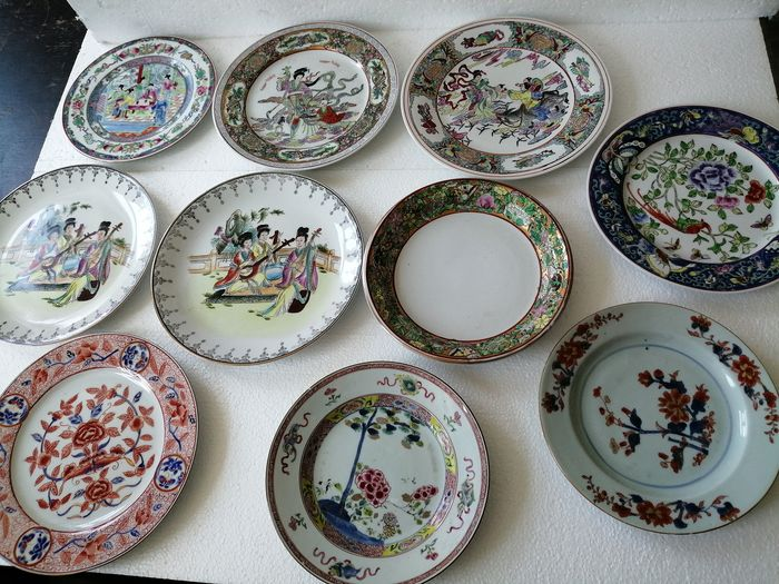 10x-collection-Chinese-plate - Porcelain - China - 18th- & 20th century