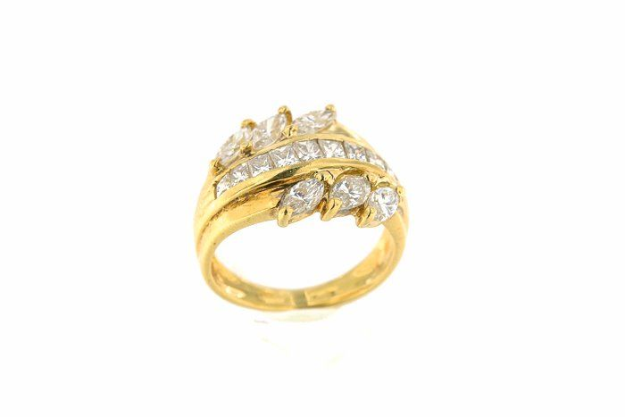18 kt. Yellow gold - Ring - 2.08 ct Diamond