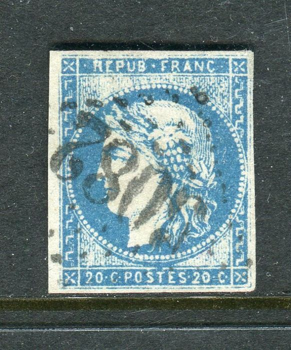 France 1871 - Extremely rare No. 44A - GC 5082 Beirut office postmark - Signed Calves and Brun.