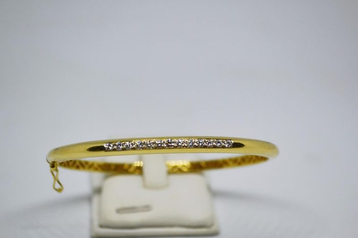 18 kt. Yellow gold - slave bracelet - 0.05 ct Diamond - Diamonds
