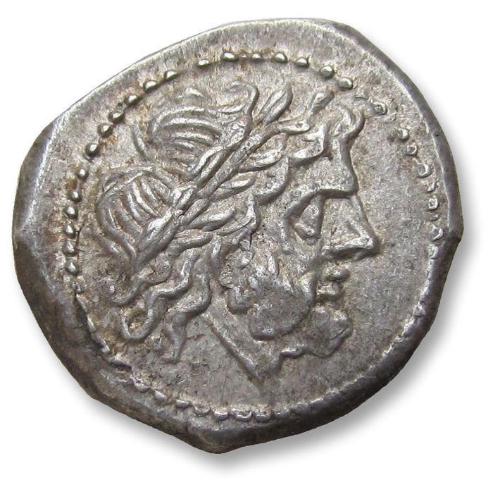 Romeinse Republiek - AR Victoriatus, anonymous issue . Rome 211-206 B.C. - early Roman coin, minted at the same time when the first denarii were introduced - Zilver
