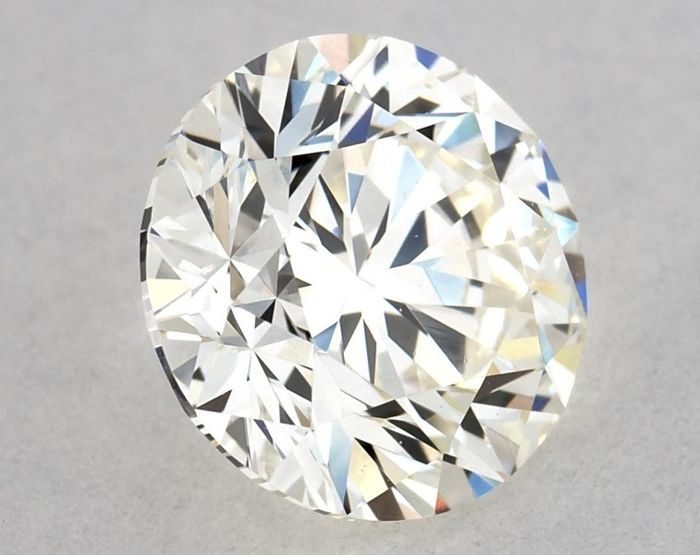 Diamante - 0.70 ct - Brillante, Redondo - K, GIA Certified - VVS2, Free D2D Shipping