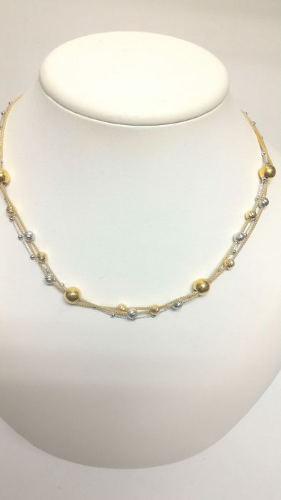 Novello - Italia - 18 kt. White gold, Yellow gold - Necklace