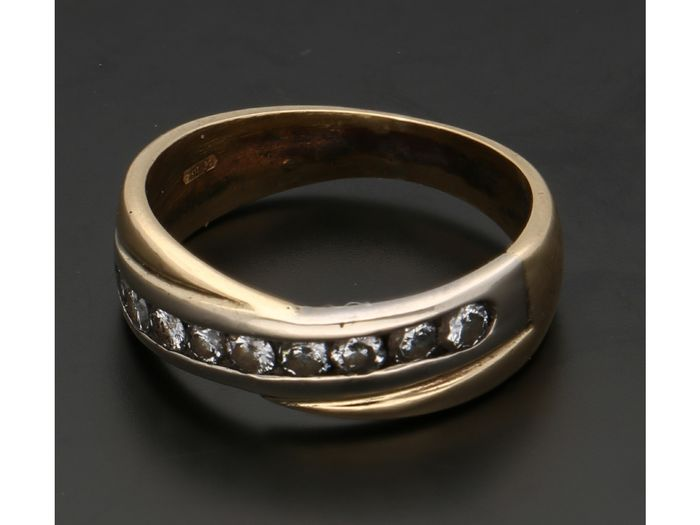 18 kt. Yellow gold - Ring - 0.36 ct Diamond