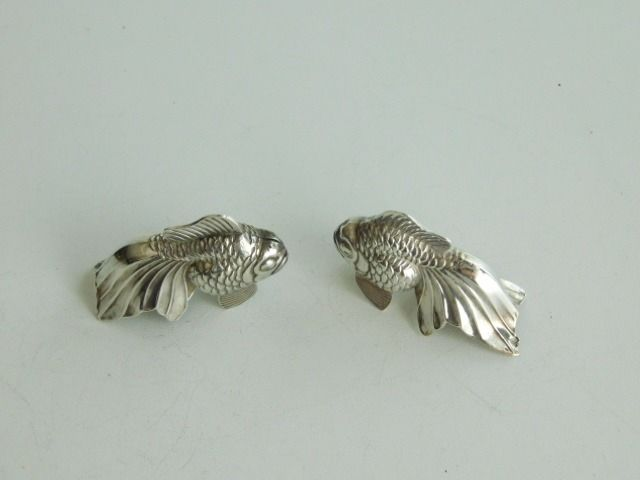 Pepper and salt spreaders in the form of fish (2) -  835 silver - Europe -  mid 20th century - Catawiki