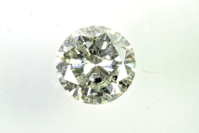 Diamant - 0.51 ct - Brillant - K - P1 - * NO RESERVE PRICE *