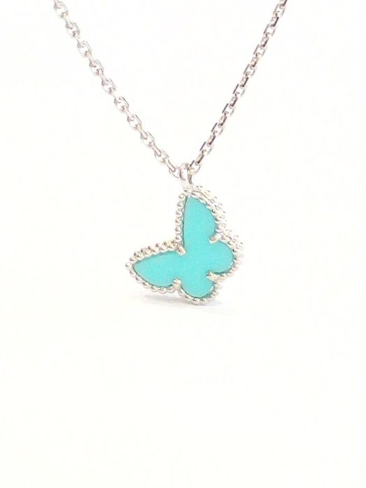Van Cleef & Arpels - 18 kt. White gold - Necklace with pendant Turquoise