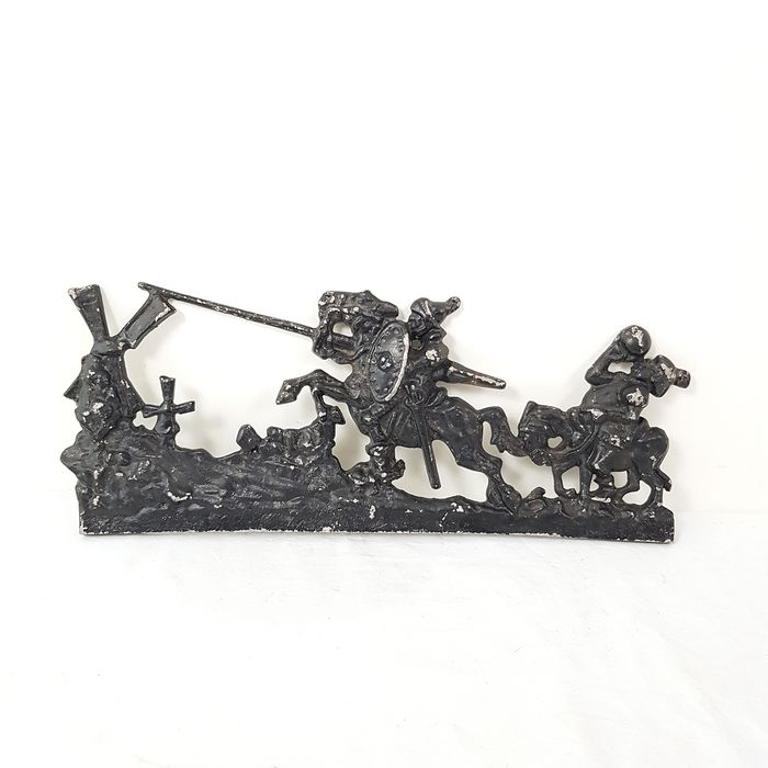 Wall plaque medieval scene