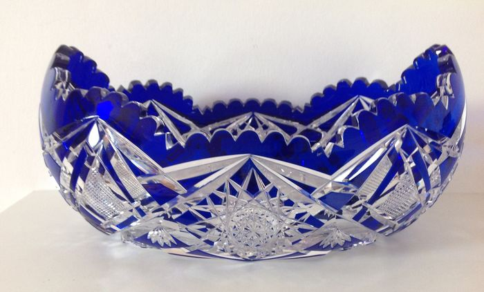 Cobalt blue planter - Crystal