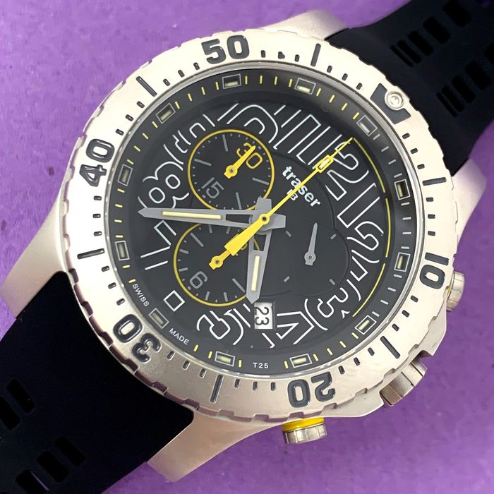 Traser - P66 Elite Chronograph with Rubber Band Swiss Made - 105858 - Heren - Brand New