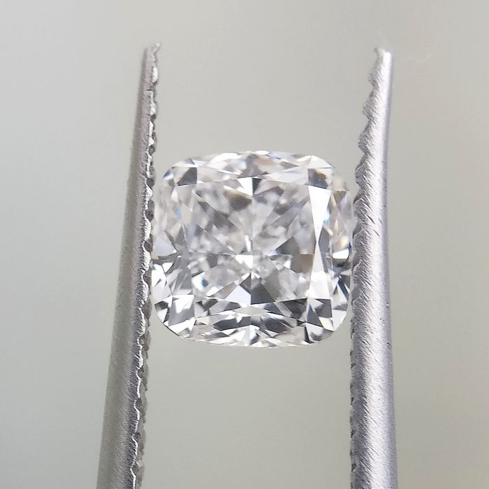 1 pcs Diamante - 1.01 ct - Cojín - E - VVS2