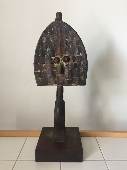 Reliquary - Iron, Wood - In the style of Kota - Gabon