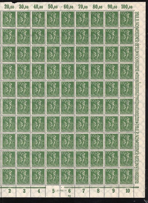 German Empire 1921/1923 - Sheet collection