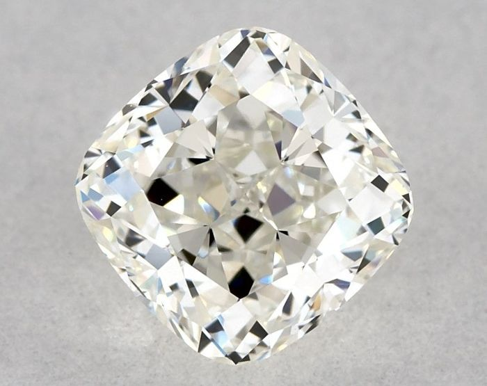 1 pcs Diamant - 0.53 ct - Brillant, Kissen - I - VVS2, * EX/VG *, Low Reserve Price + Free FedEx Shipping