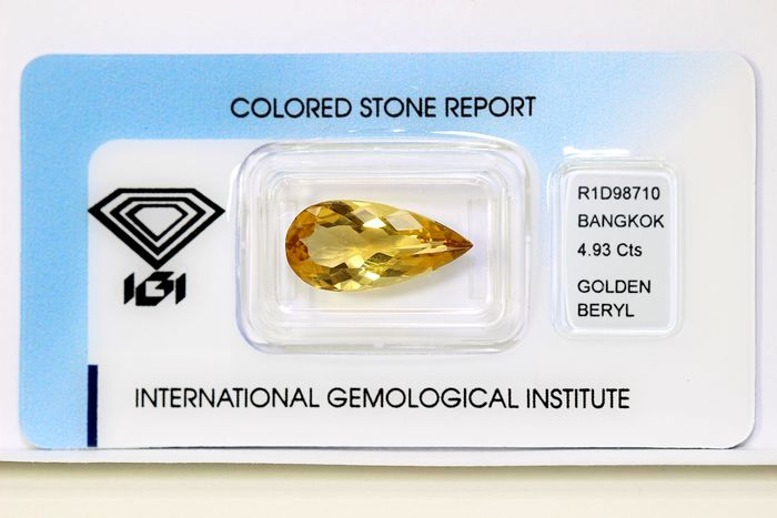 No Reserve Price - Golden Beryl - 4.93 ct