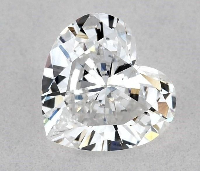 1 pcs Diamond - 0.72 ct - Heart - D (colourless) - SI2