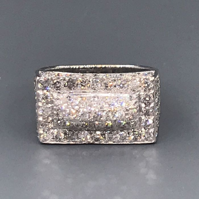 18 kt. White gold - Ring - 2.56 ct Diamond