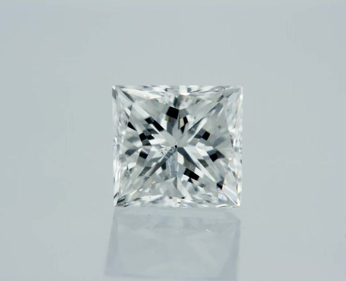 1 pcs Diamante - 0.49 ct - Princesa - D (incoloro) - VS2