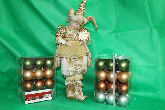 bambola carillon - Music box, Christmas balls (73) - Ceramic, Glass (stained glass)