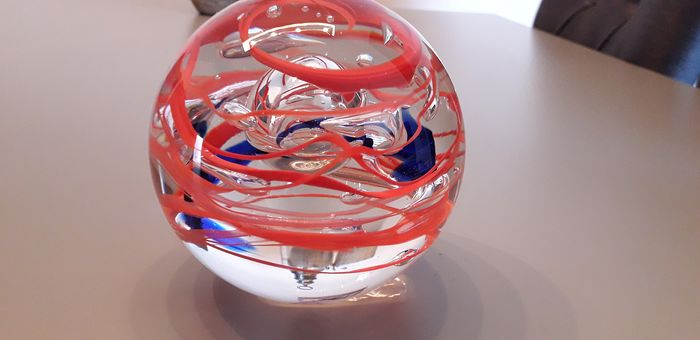 """Ozzaro Collection  - Exclusive large crystal ball """"Spiral"""" - Crystal"""