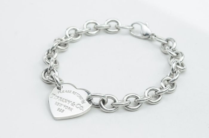 Return to Tiffany Heart Tag Bracelet Zilver - Armband