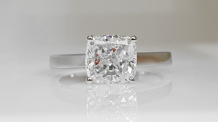 14 kt. Gold - Ring - Clarity enhanced 2.02 ct Diamond