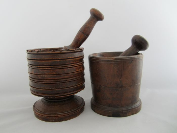 Antique wooden Jacks with Stampers (2) - Probably Mahogany