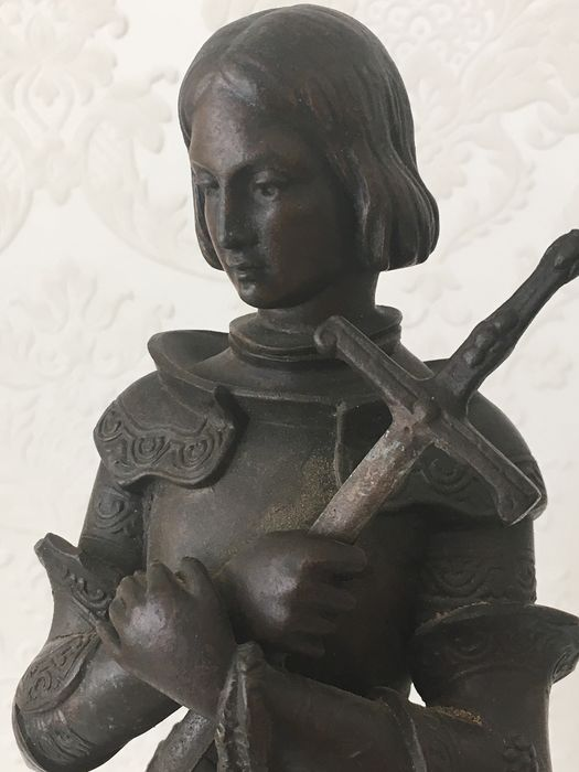 After Marie d'Orleans - Sculpture, Jeanne d'Arc (1) - Spelter, Antimony Metal - Approx. 1900