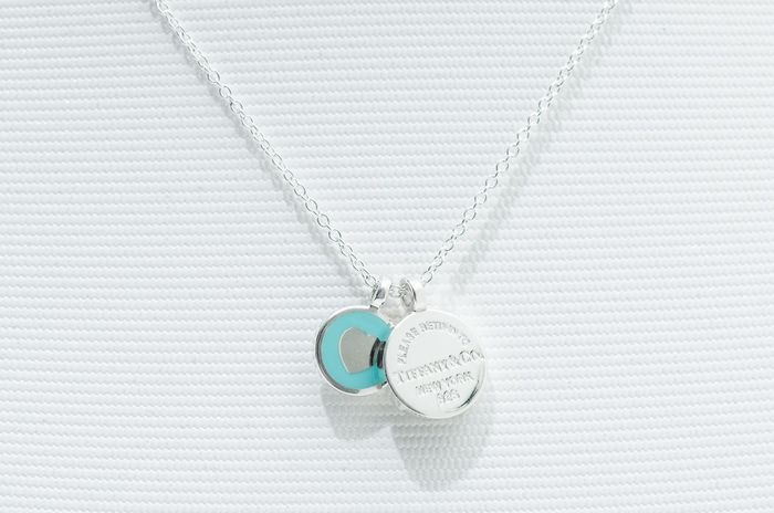 Return to Tiffany Double Round Pendant Silber - Anhänger
