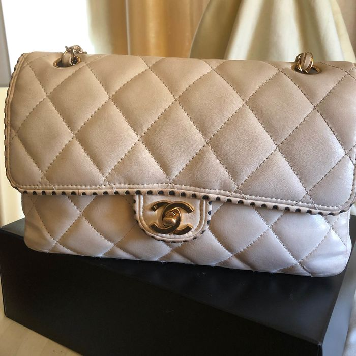 chanel single flap - Timeless Single Perforated Flap Shoulder bag