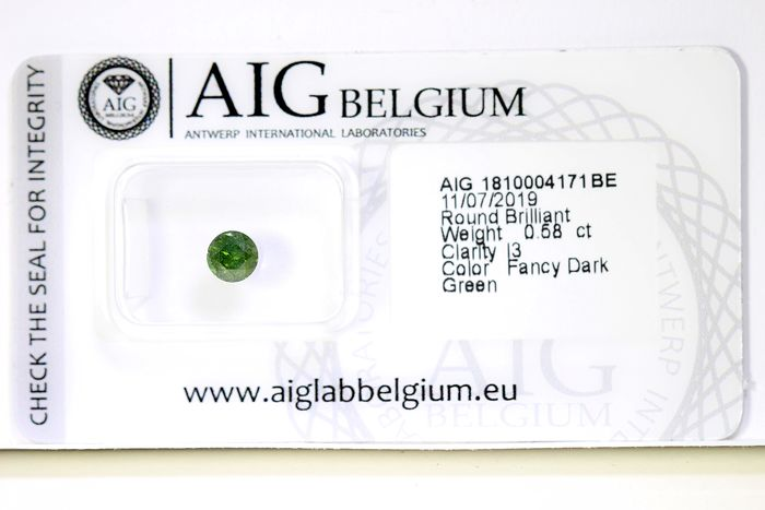 Diamant - 0.58 ct - Briljant -  * NO RESERVE PRICE *