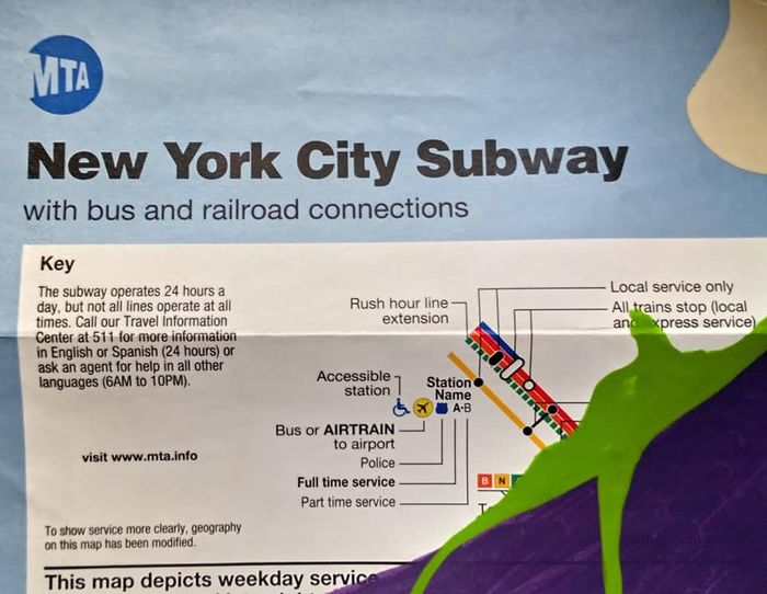 What Doy Calle The Thing That Has The Subway Map.Partone Tds Nyc Subway Map Catawiki