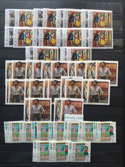 Portugal 1979/1992 - Collection of Europa CEPT stamps
