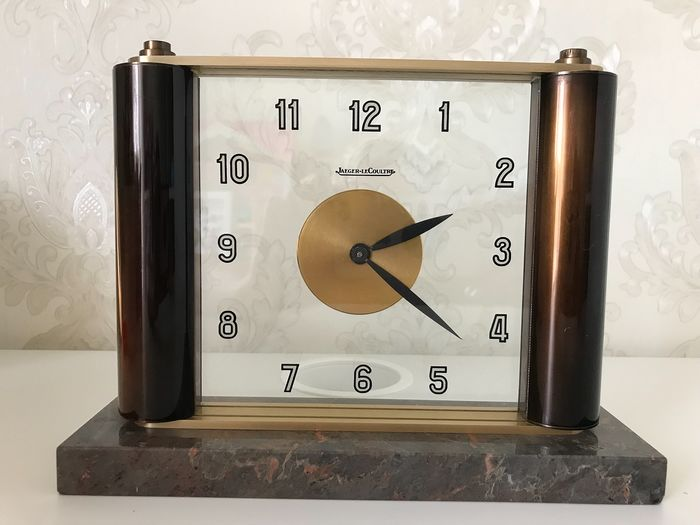 Tabletop clock - Jaeger LeCoultre - Brass, Glass, Marble - 1920