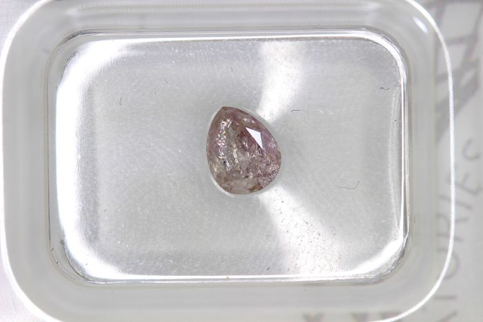 Diamant - 0.59 ct - Peer - very light orange pink - P3, PINK - * NO RESERVE PRICE *