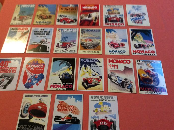 Promotional postcards. Monte Carlo Grand Prix officers - 1985-1985