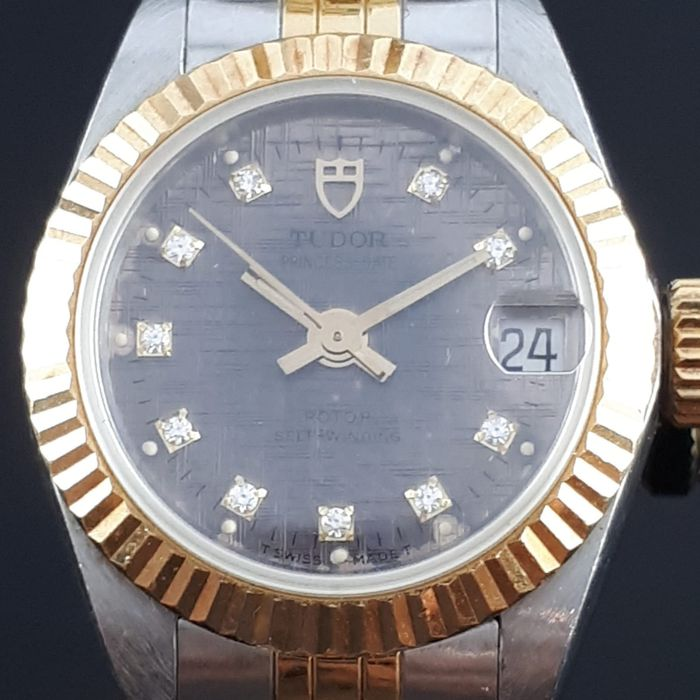 "Tudor - Princess Oyster Date Diamonds - ""NO RESERVE PRICE""  - 92513 - Dames - 1970-1979"
