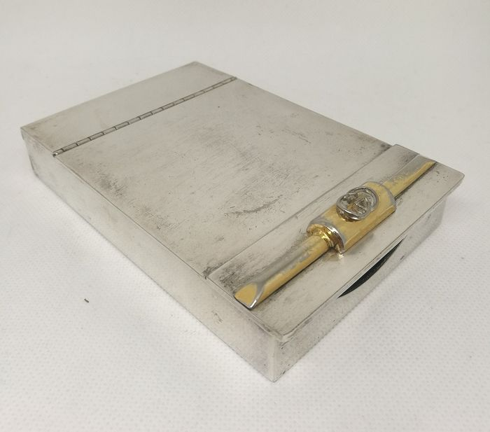 Gucci Vintage Card Or Cigarette Box - Gold plated, Silverplate, Wood - GUCCI - Italy - mid 20th century