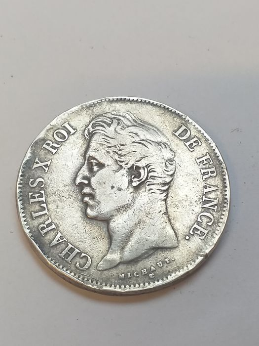 France - 5 Francs Charles X 1828 MA - Silver