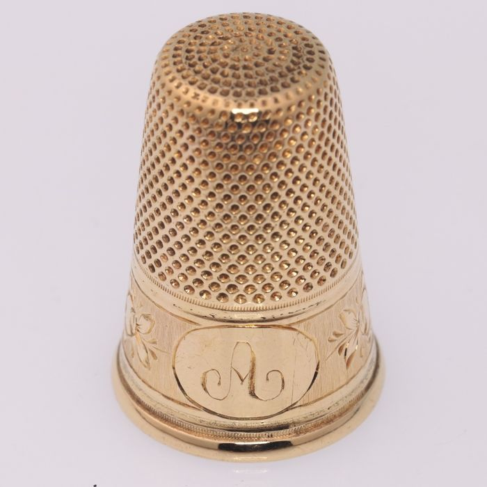 Thimble - .750 (18 kt) gold - Late 19th century