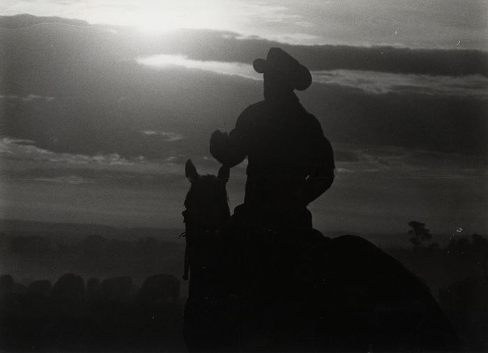 Eddie Adams (1933-2004) - Cowboy in Silhouette, 'Ghost