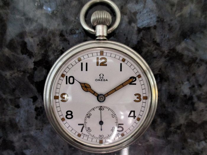 Omega - General Service Time Piece (GSTP) Military Pocket Watch - F 045739 - Uomo - CIRCA 'D' DAY - JUNE 1944