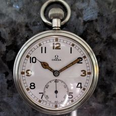 Omega - General Service Time Piece (GSTP) Military Pocket Watch - F 045739 - Homme - CIRCA 'D' DAY - JUNE 1944