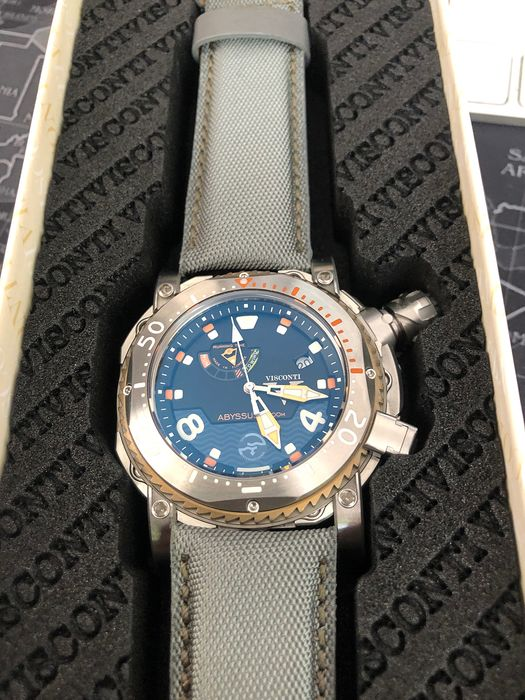 Visconti Abyssus Pro Dive 3000m Inox Diver Watch Extra Strap W108 00 123 1408 Men New Catawiki