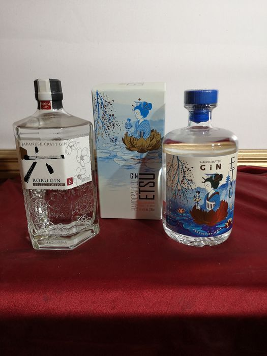 Roku gin & Etsu gin  - Japanese craft gins - 70cl - 2 bottles