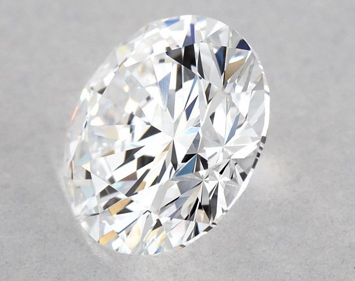 Diamond - 0.93 ct - Brilliant, Round - D (colourless), 3EX - IF (flawless), LC (loupe clean), Free Shipping